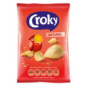 Croky chips 100x25gr naturel