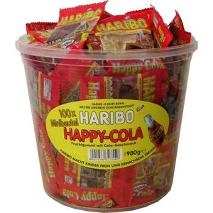 Haribo silo x100 happy cola minis
