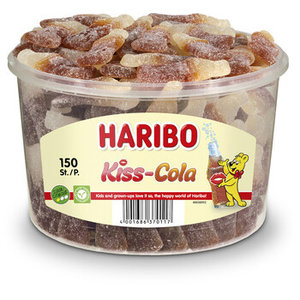 Haribo silo x150 zure cola flesjes