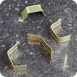 Klinkers sluitclip U-vorm 8x40mm goud x1000