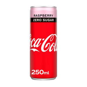 Coca cola blik 12x25cl zero raspberry