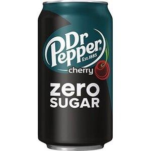 Amerikaans blik 12x355ml dr. pepper zero cherry