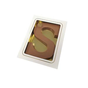 Sint luxe chocolade letter S 135gr wit in doosje