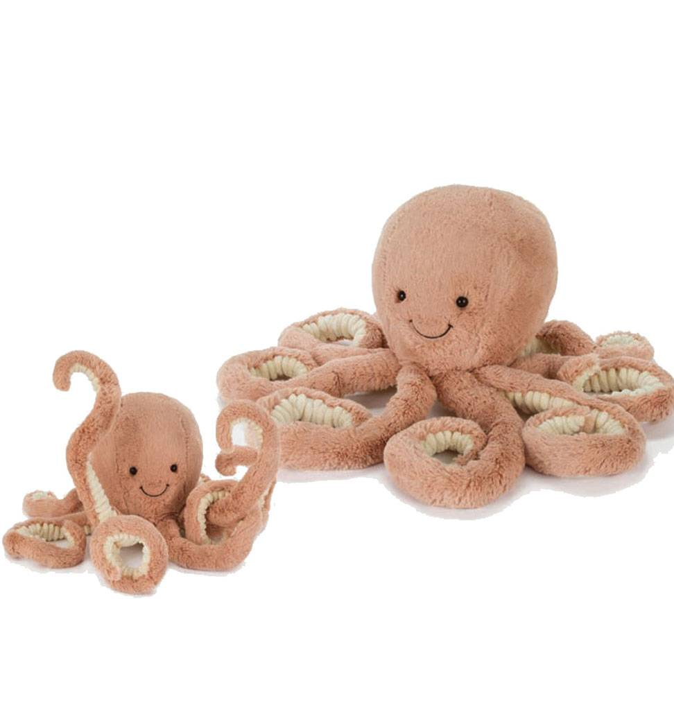 Jellycat knuffels Odell Octopus Jellycat small 23 cm small