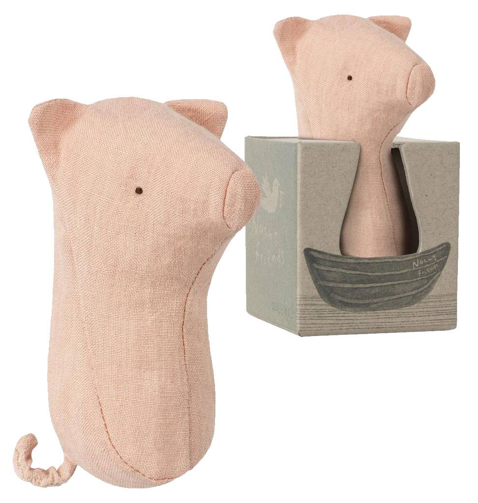 Maileg Rattle pig from Maileg 12 cm