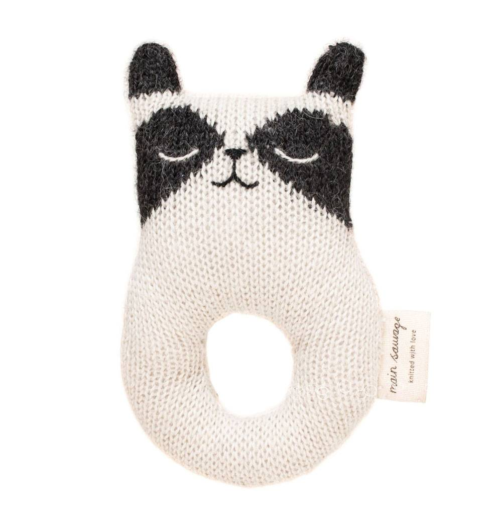 Main Sauvage Main Sauvage rattle raccoon 14 cm