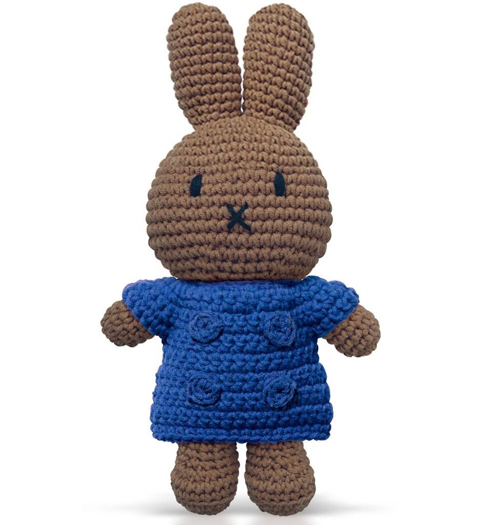 Just Dutch / Nijntje / Miffy Nina met blauwe jurk Just Dutch 25 cm