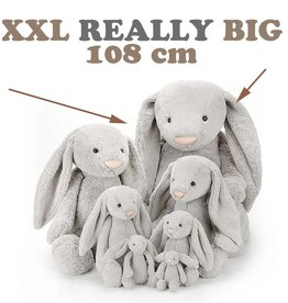 Jellycat knuffels Bashful Jellycat bunny really really big 107 cm  silver