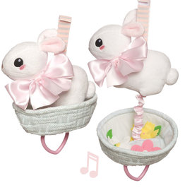 Manhattan Toy Manhattan Toy Lullaby bunny in basket with flowers
