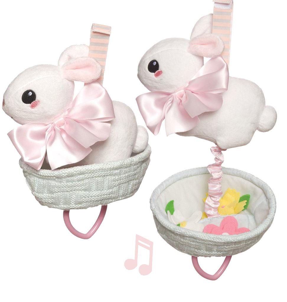 Manhattan Toy Manhattan Toy Lullaby konijntje in mandje met bloemen