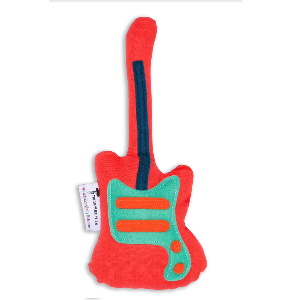 the Lazy Jellyfish Rattle bass guitar red 20 cm
