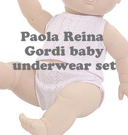Paola Reina poppen Paola Reina baby Gordi underwear set pink