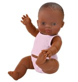 Paola Reina poppen Paola Reina babypop bruin meisje met ondergoed