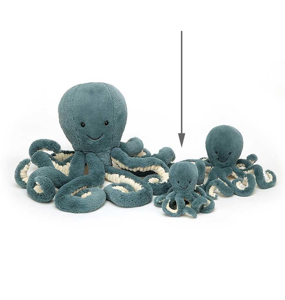 Jellycat knuffels Storm Octopus baby Jellycat 14 cm
