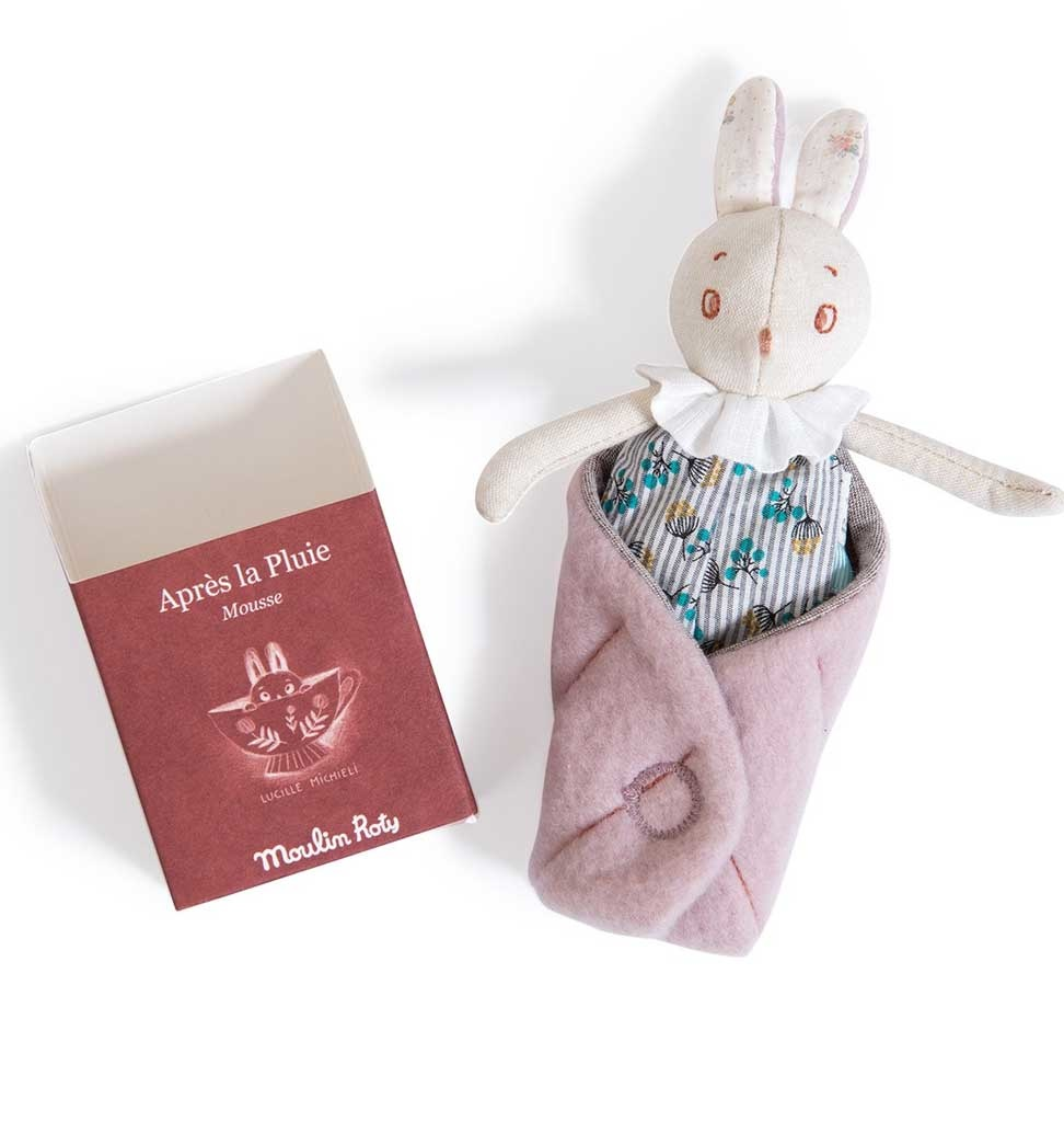 Moulin Roty Kaninchen Mousse in einer Box Moulin Roty 16 cm