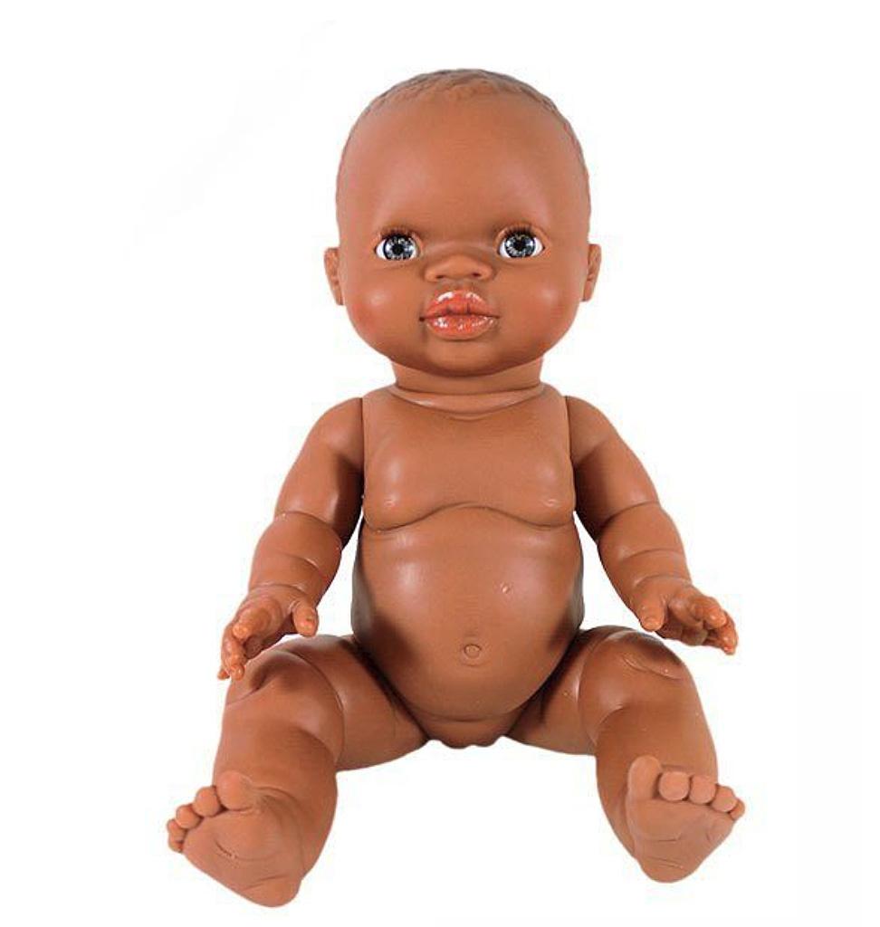 Paola Reina poppen Paola Reina Puppe braunes Mädchen blaue Augen 34 cm