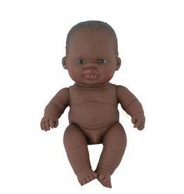 Miniland poppen Miniland Babypuppe Afrikanischer Junge 21 cm