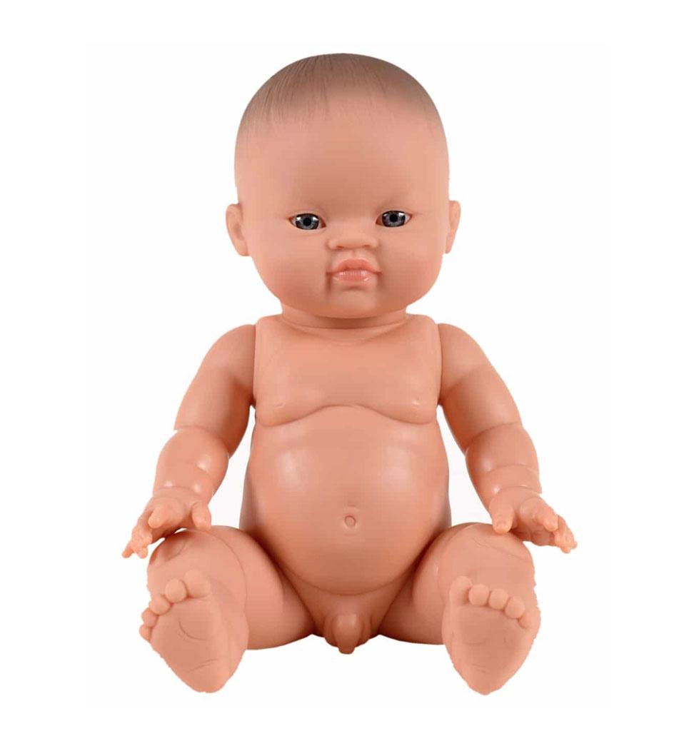Paola Reina poppen Paola Reina Gordi baby doll Asian boy blue eyes