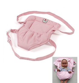 Baby carrier pink for the Gordi and Miniland dolls