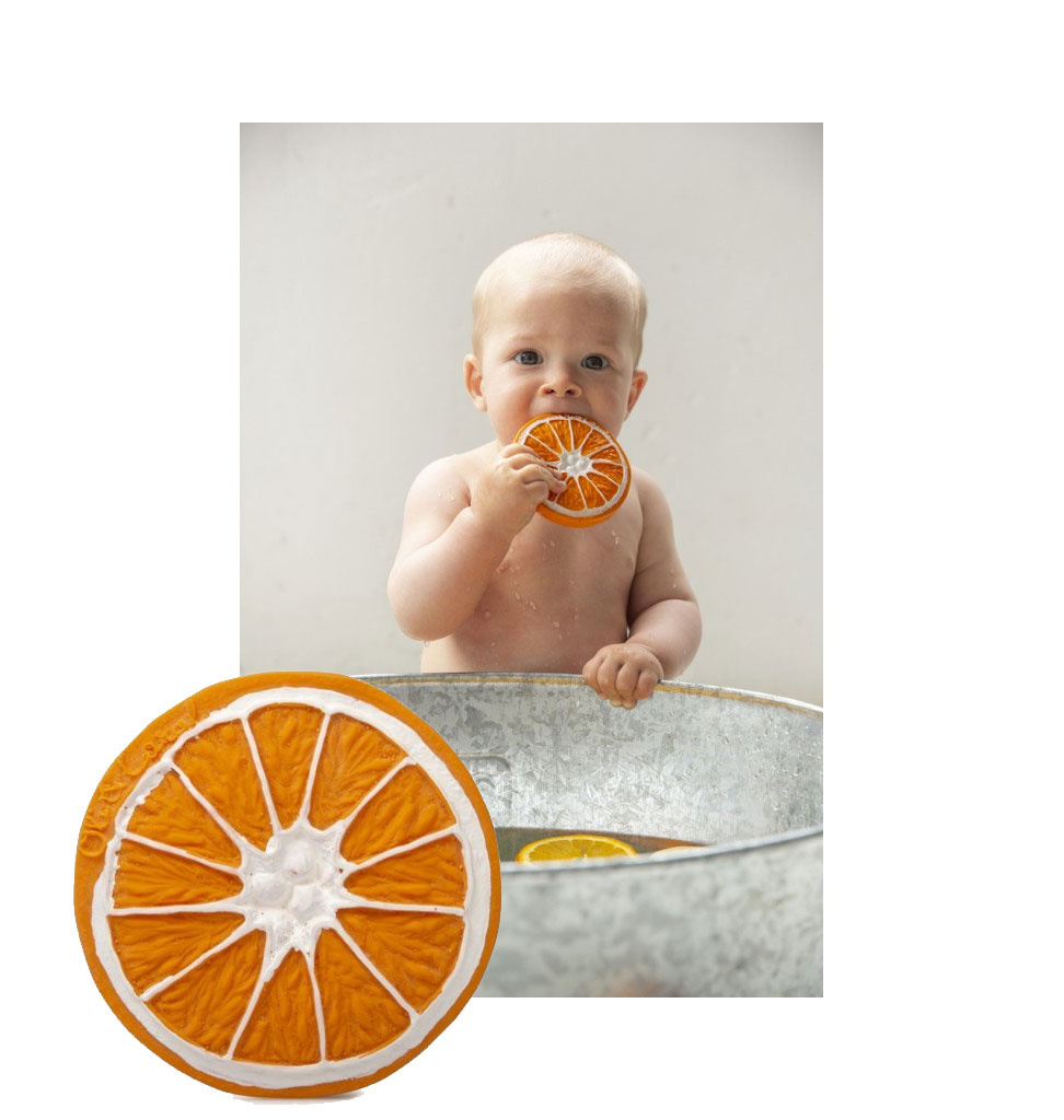 Oli & Carol Clementino orange from Oli & Carol baby bath toy