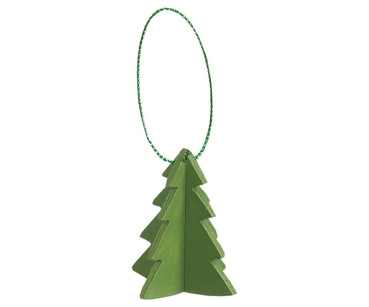 Maileg drie kerstboom hangers van hout