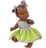 Paola Reina poppen Paola Reina Gordi doll girl brown with tails in her hair