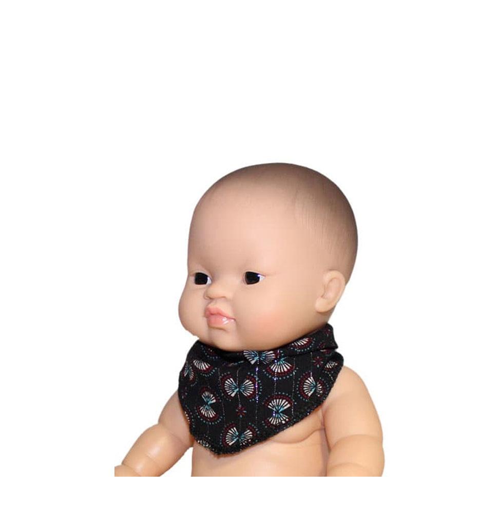 Minikane  Minikane bandana / doll scarf India noir and lurex silver  for Gordi dolls