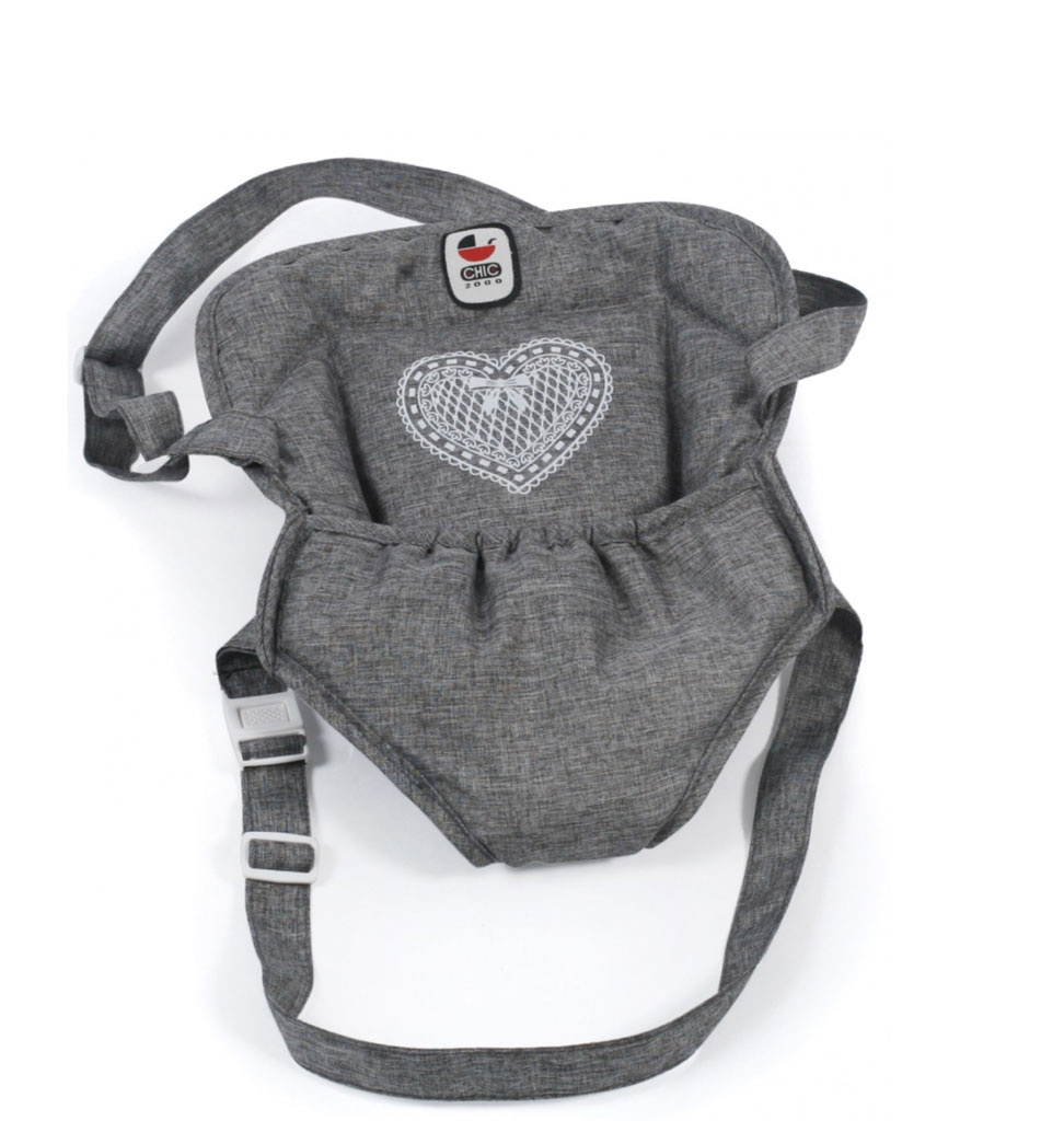 Babydrager grijs voor o.a. de Gordi en Miniland poppen