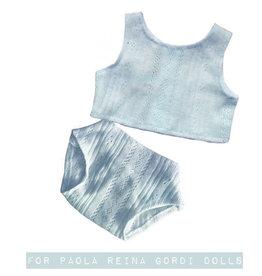 Paola Reina poppen Paola Reina baby Gordi ondergoedset blauw