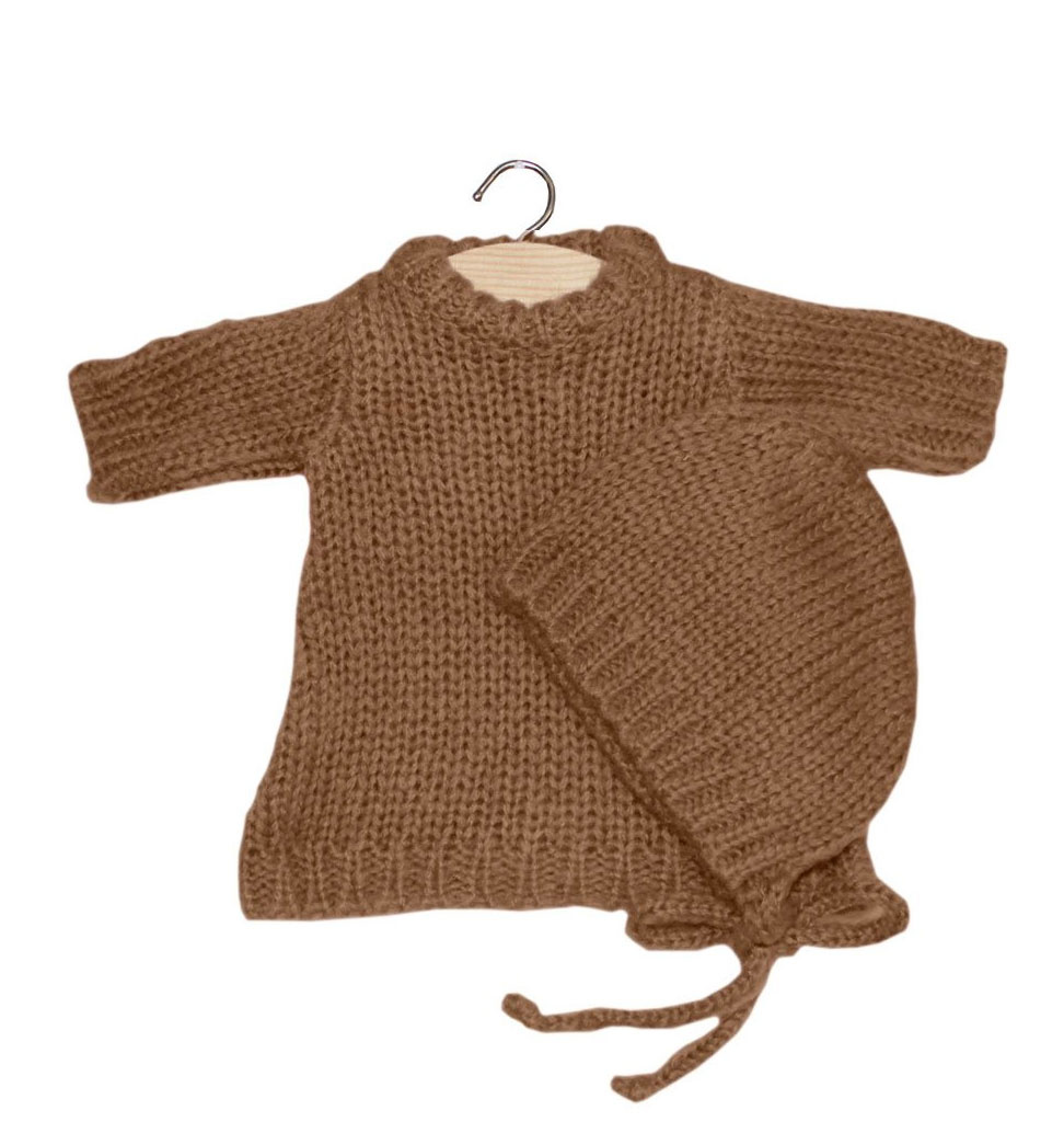Minikane  Knitted set of Gasparine from Minikane color taupe