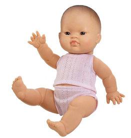 Paola Reina poppen Paola Reina babypop  meisje Aziatisch met ondergoed