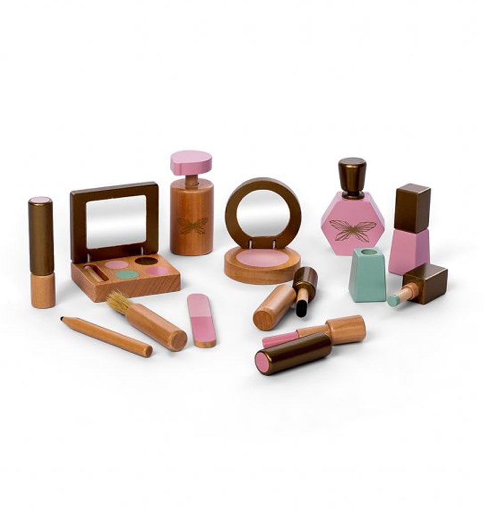 By Astrup / Mini Mommy  Make up set hout van By Astrup voor Minikane