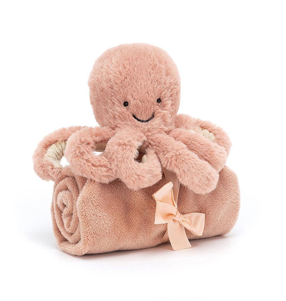 Jellycat knuffels Jellycat Odell octopus knuffeldoekje 34 cm