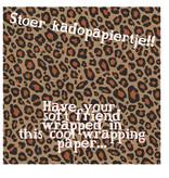 Cadeaupapier luipaard kraft