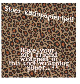 Geschenkpapier Leopard Kraft