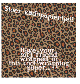wrapping paper  leopard kraft