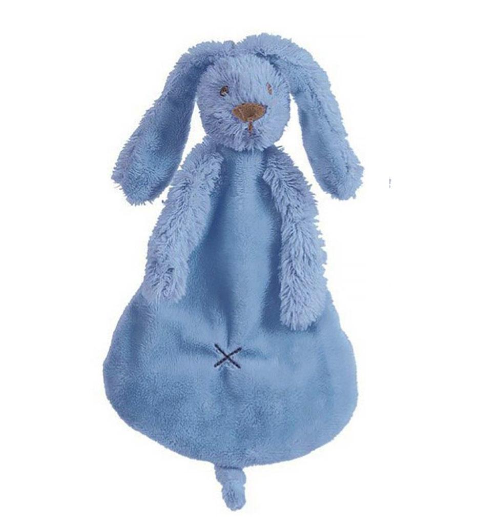 Happy Horse Knuffeldoekje konijntje deep blue Happy Horse