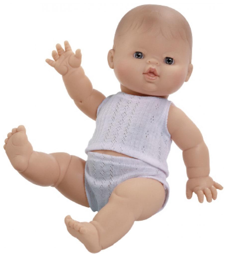 Paola Reina poppen Paola Reina Gordi baby doll boy with underwear 34 cm