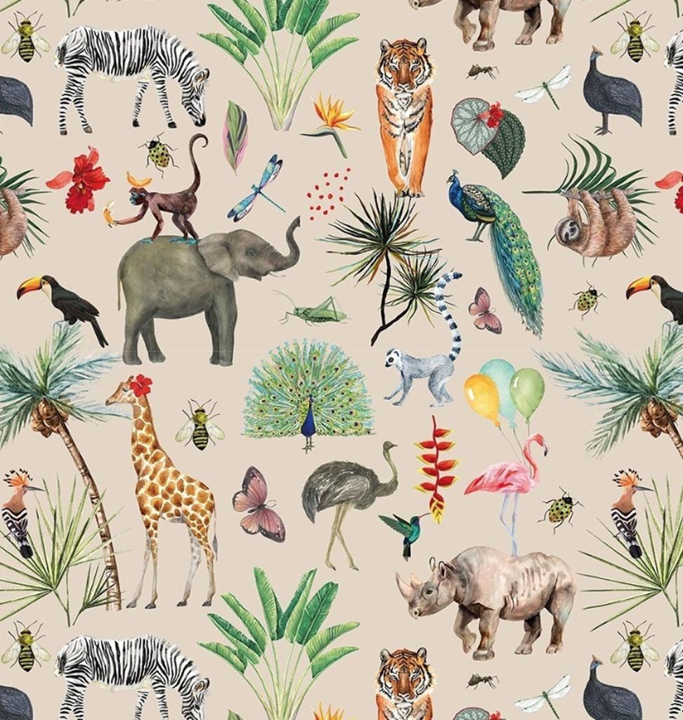 Geschenkpapier Dschungel / Tiere