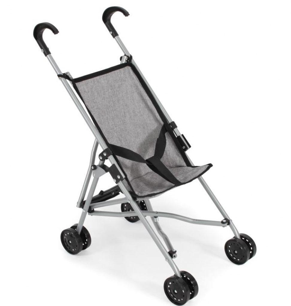 Poppenwagen buggy grijs voor o.a. de Gordi babypoppen van Paola Reina