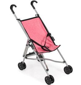 Poppenwagen buggy roze/zwart
