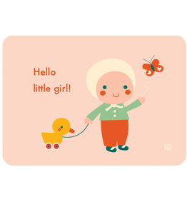 By-Bora Bora card Hello little girl