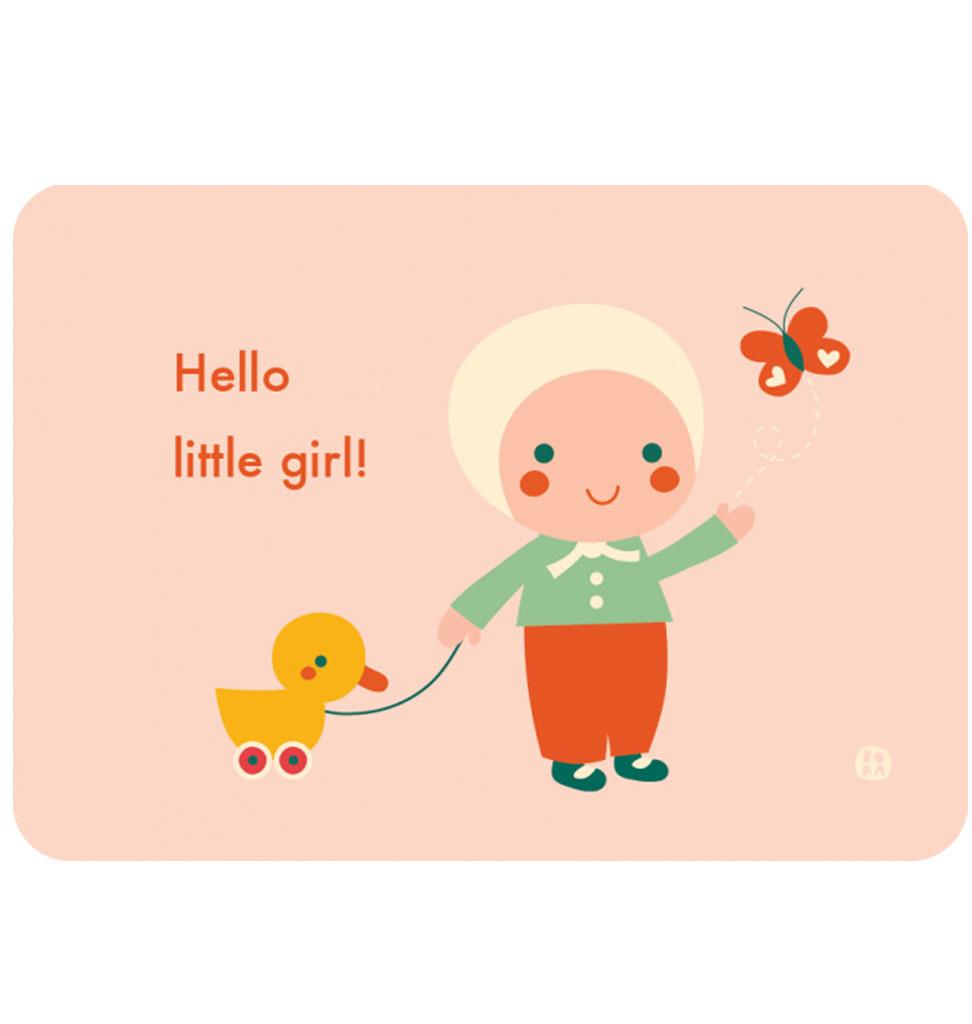 By-Bora Bora card Hello little girl