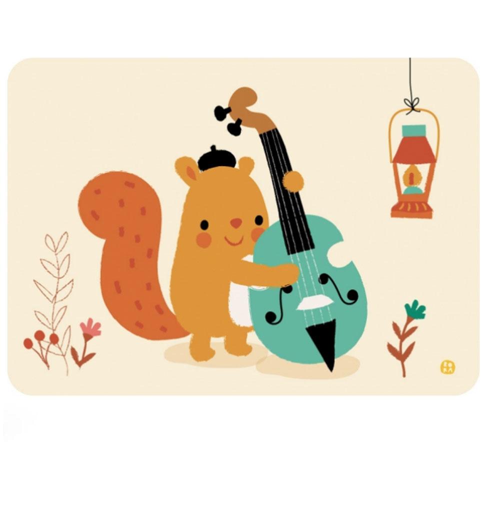 By-Bora Bora card squirrel