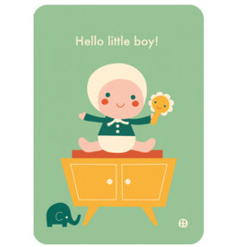 By-Bora Bora card Hello little boy