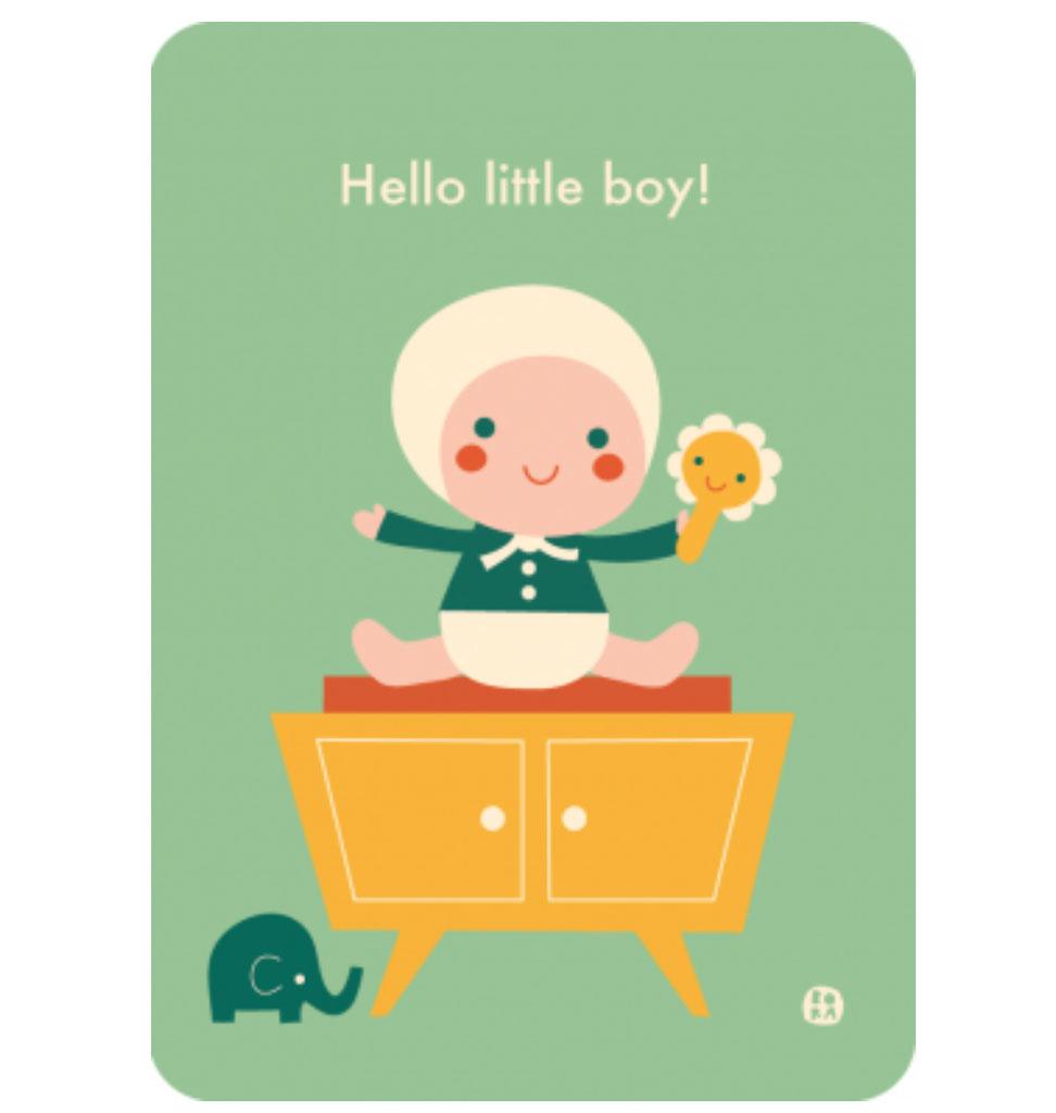 By-Bora Bora card Hello little boy
