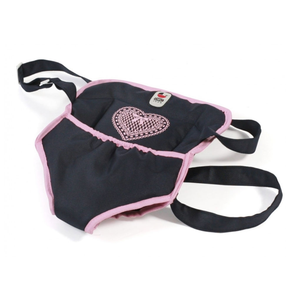 Baby carrier blue / pink for the Gordi and Miniland dolls
