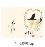 Maileg Maileg dubbele kaart Mon Amour ♥ met enveloppe