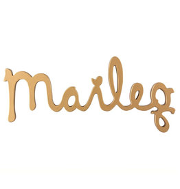 Maileg Maileg logo gold from wood