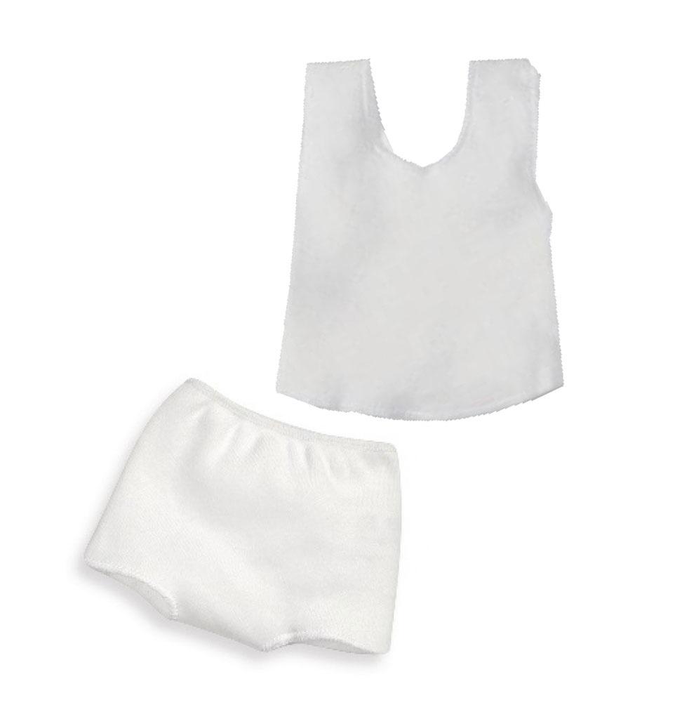 Paola Reina poppen Schwenk ondergoed set wit geschikt voor  Gordi poppen